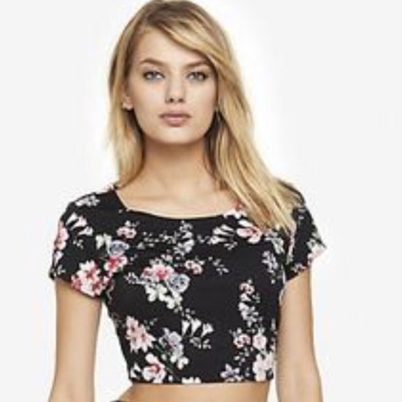 a06576a09e1 Express Floral Crop Top Size Small NWT